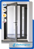 Modern Thermal Break Alliage d'aluminium Double vitrage Conception de porte battante