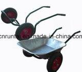 Carriola calda della costruzione della rotella dell'aria del doppio di vendita (Wb6406)