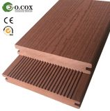 Decking composé en plastique en bois WPC de Decking extérieur solide de WPC
