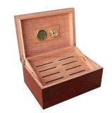 Caisse en bois d'humidificateur de mémoire d'emballage de cigare de métier de fini de piano d'Ashtree