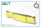100%年のポリエステルが付いている2018年のWstdaの黄色いウェビングの吊り鎖