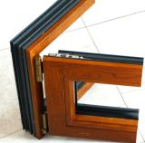 Guichet en aluminium de tissu pour rideaux de modèle de chêne d'interruption thermique plaquée neuve en bois