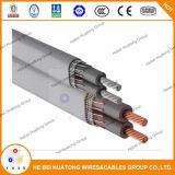 La UL enumeró el tipo estándar cable de la entrada de servicio del aluminio 44 854 600V o del conductor de la serie AA-8000 6-6-6-6 de Se/Ser/Seu