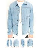 La luz de la moda de los hombres chaqueta de mezclilla azul