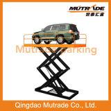 El estacionamiento de Mutrade Scissor el tipo suelo del elevador del coche para solar la elevación