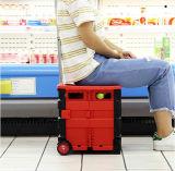 Dobragem Multifunções Carrinho de Compras de plástico com tampa