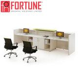 Comptoir de réception de bureau moderne en bois de grande/petite entreprise (FOH-RD-2410-A)
