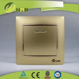 MODO variopinto del piatto certificato CE/TUV/CB 1 di standard europeo CON l'interruttore della parete dell'ORO del LED