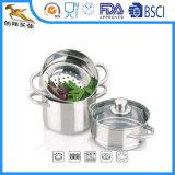 Настраиваемые из нержавеющей стали 3 категории пароварки посуда для варки потенциометра (CX-SM01)