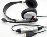 De Microfoon van de anti-Schok van de Lucht van de Hoofdtelefoon USB met lawaai-Annulerende Microfoon