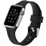 De nieuwe Band van het Horloge van het Silicone van de Stijl met de Gesp van het Metaal voor de Band van het Horloge van de Appel