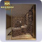 Partición decorativa de interior del tabique del acero inoxidable del metal