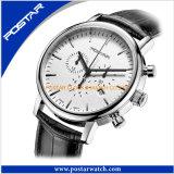 Het zwarte Horloge van de Gift van de Chronograaf van het Roestvrij staal Multifunctionele