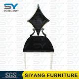 Стул банкета стула столовой кожи черноты античной мебели