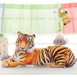 Giocattolo molle di seduta personalizzato realistico lanuginoso della peluche dell'animale farcito della tigre