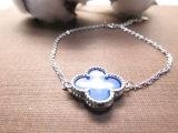 Armband van de Parel van de Klaver van de Rek van de Fabrikant van de Juwelen van de manier de Blauwe Marmeren