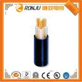 Revestimento de PVC Liso do TPE LSZH do gel de silicone TPU do cabo elétrico