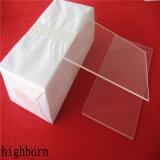 De duidelijke hoog Gesmolten Vlakke Schijven van het Glas van het Kwarts