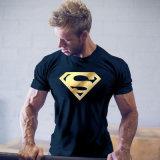 Magliette casuali di stampa dei superman delle parti superiori del muscolo degli uomini