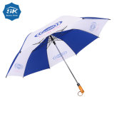 Os homens a publicidade da oferta promocional 28polegada 2 guarda-chuva de Golfe de dobragem