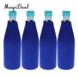 4PCS/Lotネオプレンのビール瓶のクーラーの飲料の袖のホールダーの雌鶏夜パーティの記念品の青