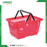 Panier de magasinage en plastique supermarché Simple Double Panier tenue en main