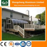 Алюминий Terrasoverkapping Ce Approved с стеклянным листом раздвижной двери и поликарбоната