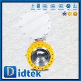 Valvola a sfera montata perno di articolazione basso di coppia di torsione di Didtek con l'azionatore pneumatico