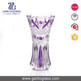 Abastecido e coloridas flores vaso de vidro fosco