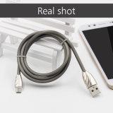 금속 iPhone 8을%s 맨 위 TPE USB 비용을 부과 케이블 코드