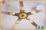 Satin Nickel Lnvisible Fan Ceiling Fan Household Light Uses, Summer Use LED Ceiling Fan Lamps 2018