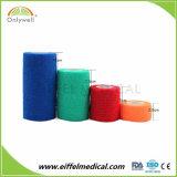 Multicolored Strong Elastic Not Woven Cohesive Medical Gauze Cohesive Bandage Tape