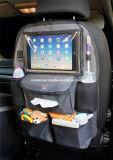 Organizador del coche del asiento trasero de las misceláneas del tronco con el sostenedor de la tablilla de la pantalla táctil