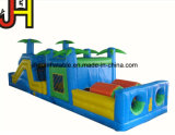 Double piste gonflable Diapositive de l'eau forestiers pour Kids Fun