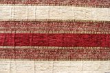 縞デザイン黒くおよび赤いシュニールのソファーファブリック(FTH31003B)