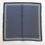 Écharpe/Bandana carrés en soie purs estampés par POINT classique (HQ10)