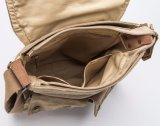 Uomini di sacchetto di vendita caldi promozionali del messaggero della spalla della tela di canapa dell'annata di modo di BSCI
