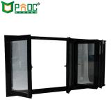 China-Fabrik-faltendes Aluminiumfenster mit ausgeglichenem Glas