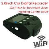 이동 전화, 5.0mega 소니 차 DVR 의 야간 시계 차 사진기를 위한 WiFi를 가진 새로운 2.0inch 가득 차있는 HD1080p 차 대시 비행 기록 장치