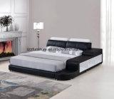 Кожаный кровать с СИД