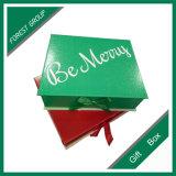 hecho personalizado para el papel del embalaje caja con cinta de color