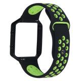 Cinghia registrabile di sport del rimontaggio del nero del silicone del cinturino della fiammata di Fitbit