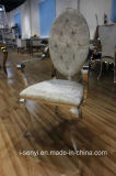의자 연회 의자를 식사하는 호텔 가구 팔걸이 의자 스테인리스 의자