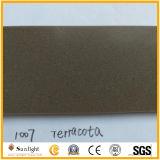 Material de construção de pedra de quartzo Terracota, Brown Pedra de quartzo para bancada da cozinha