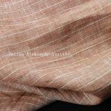 100%Raya camisa de lino hilado teñido de tejido de prendas de vestir