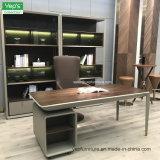 La madera de estilo simple de microfibra de metal de la Oficina de cuero libreria Armario de almacenamiento (YR220)