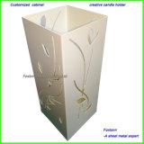 Hoja personalizada creativo titular de la luz de lámpara de metal perforado con patrones