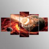 نوع خيش 5 لوح [هد] كوكب أطفال صورة زيتيّة ملصقات فنّ جدار