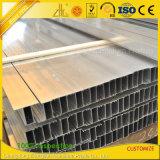 Vitre coulissante en aluminium anodisé et de la porte des profils de chenille