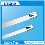 304 316 Edelstahl-Kugel-Verschluss-Kabelbinder für Hochleistungs